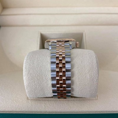 ROLEX Date Just Lady 28 mm Steel and Rose Gold 279171 IV Diamond Dial