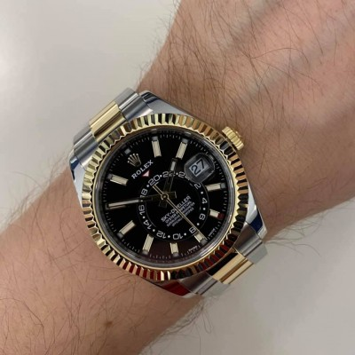 ROLEX Sky-Dweller Steel and Gold 326933
